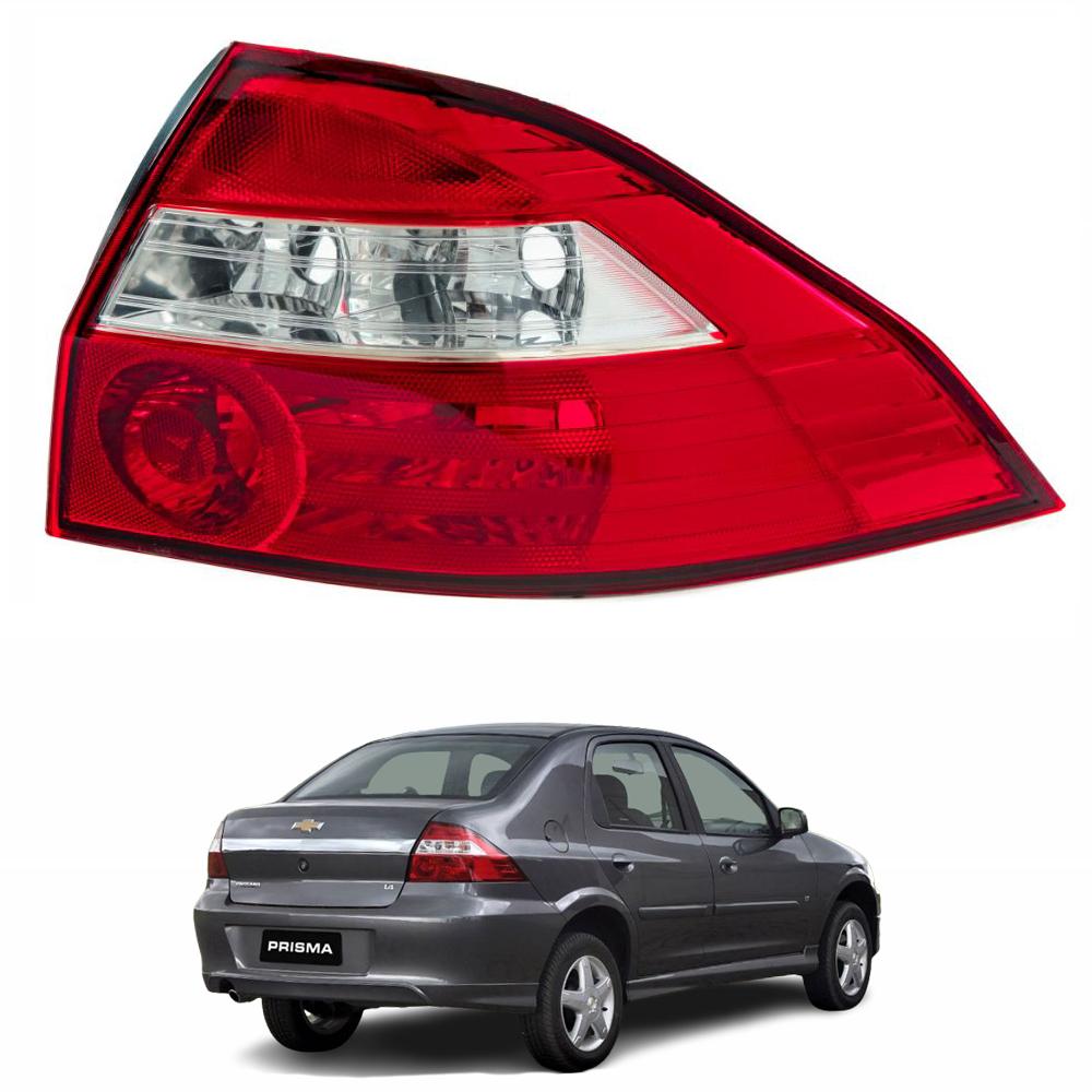 Lanterna Traseira PRISMA 2006 até 2012 - Cristal - Lado Dire