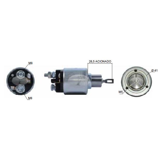 Automático Motor de Partida TIPO 1.6 IE - Sistema BOSCH (908