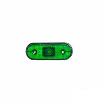 Lanterna Lateral Retangular - Com Led - Verde (AS0607000)
