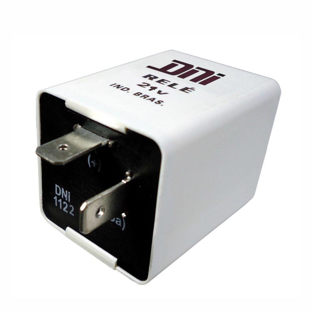 Rel� de Pisca 24V 02 Terminais. 200W Eletr�nico (DNI1122) - REL� DE PISCA - DNI - PE�A - DNI1122