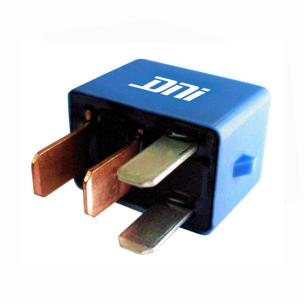 Rel� Auxiliar Mini 12V 04 Terminais 20 Amperes (DNI8125) - REL� AUXILIAR - DNI - PE�A  - Cod. SKU: 13811