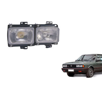 Farol Principal PASSAT 1982 até 1988 - Duplo H4 H1 - Lado Di