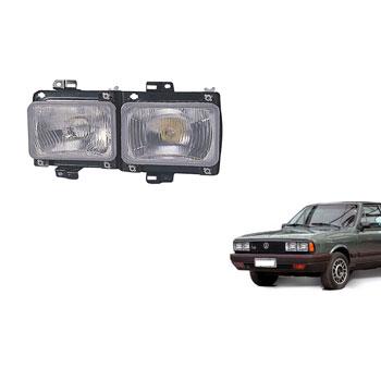 Farol Principal PASSAT 1982 até 1988 - Duplo H4 H1 - Lado Es