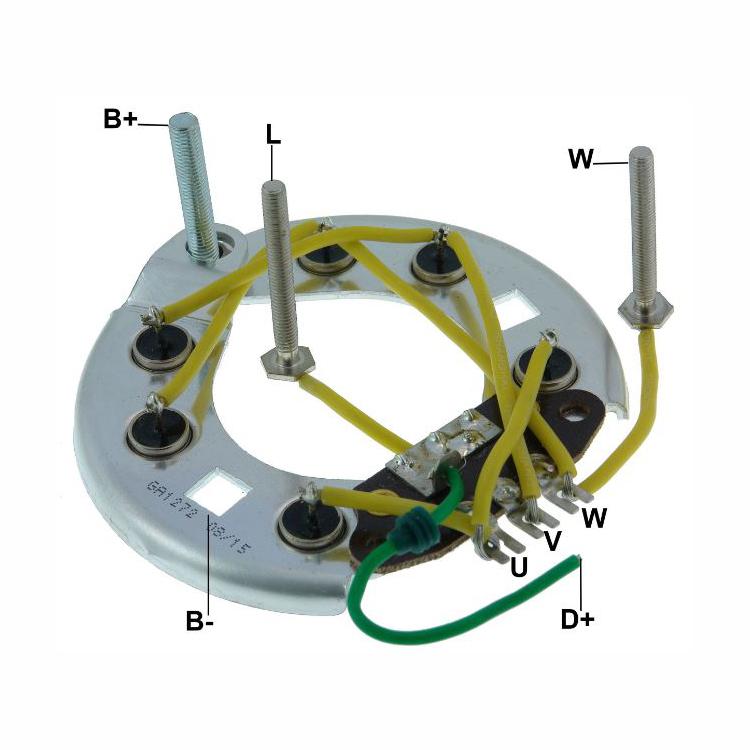 Placa Diodo F1000 F4000 - Sistema LUCAS 035 Amperes  CONJUNTO (GA1272) - PLACA DE DIODO - GAUSS - PE�A  - Cod. SKU: 18668