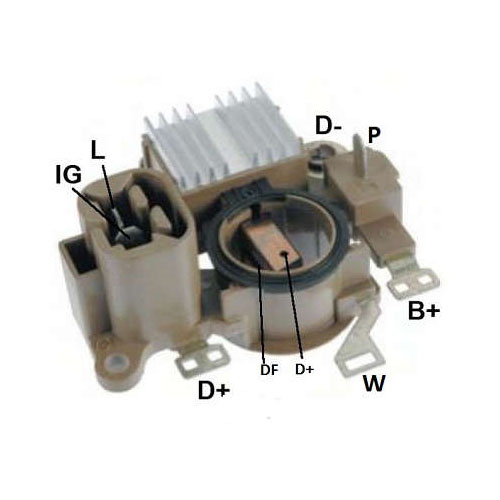 Regulador Alternador NEW HOLLAND - MTS (IK5847) - REGULADOR DE VOLTAGEM - IKRO - PE�A  - Cod. SKU: 32666