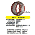 Estator do Alternador SCANIA 124 MBB AXOR - Sistema BOSCH 11