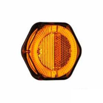 Lanterna Lateral - Com Led Bivolt Terminais - Amarelo (Turn)