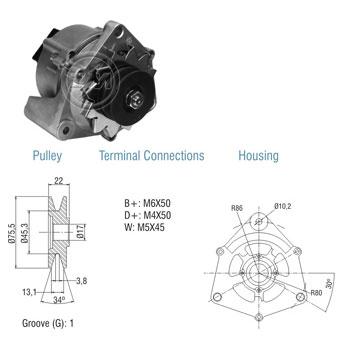 Alternador AGRALE CASE - 35Ah 12v ZM9010107