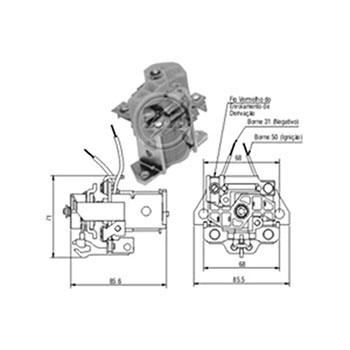 Autom�tico Motor de Partida KB 005 - Partida Sistema BOSCH 24V (ZM903) - AUTOM�TICO - PE�A  - Cod. SKU: 16473