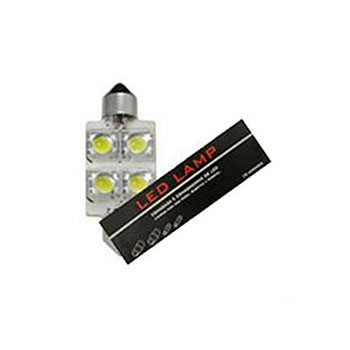 LED Torpedo 36MM 12V - 4 LED 10W - Branco (AP090) - AUTOPOLI