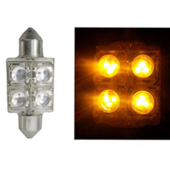 LED Torpedo 36MM 12V - 4 LED 10W - Amarelo (AP170) - AUTOPOL