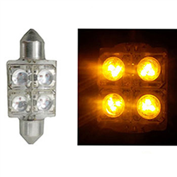 LED Torpedo 36MM 12V - 4 LED 10W - Amarelo (AP170)