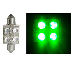LED Torpedo 36MM 12V - 4 LED 10W - Verde (AP172)