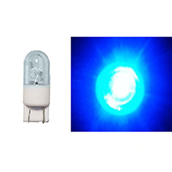LED Base Vidro Grande 12V - 1 LED 2W - Azul (AP826) - AUTOPO