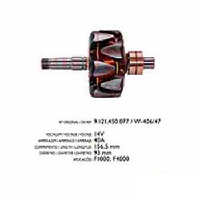 Rotor Alternador F4000 040 Amperes (ARI411)