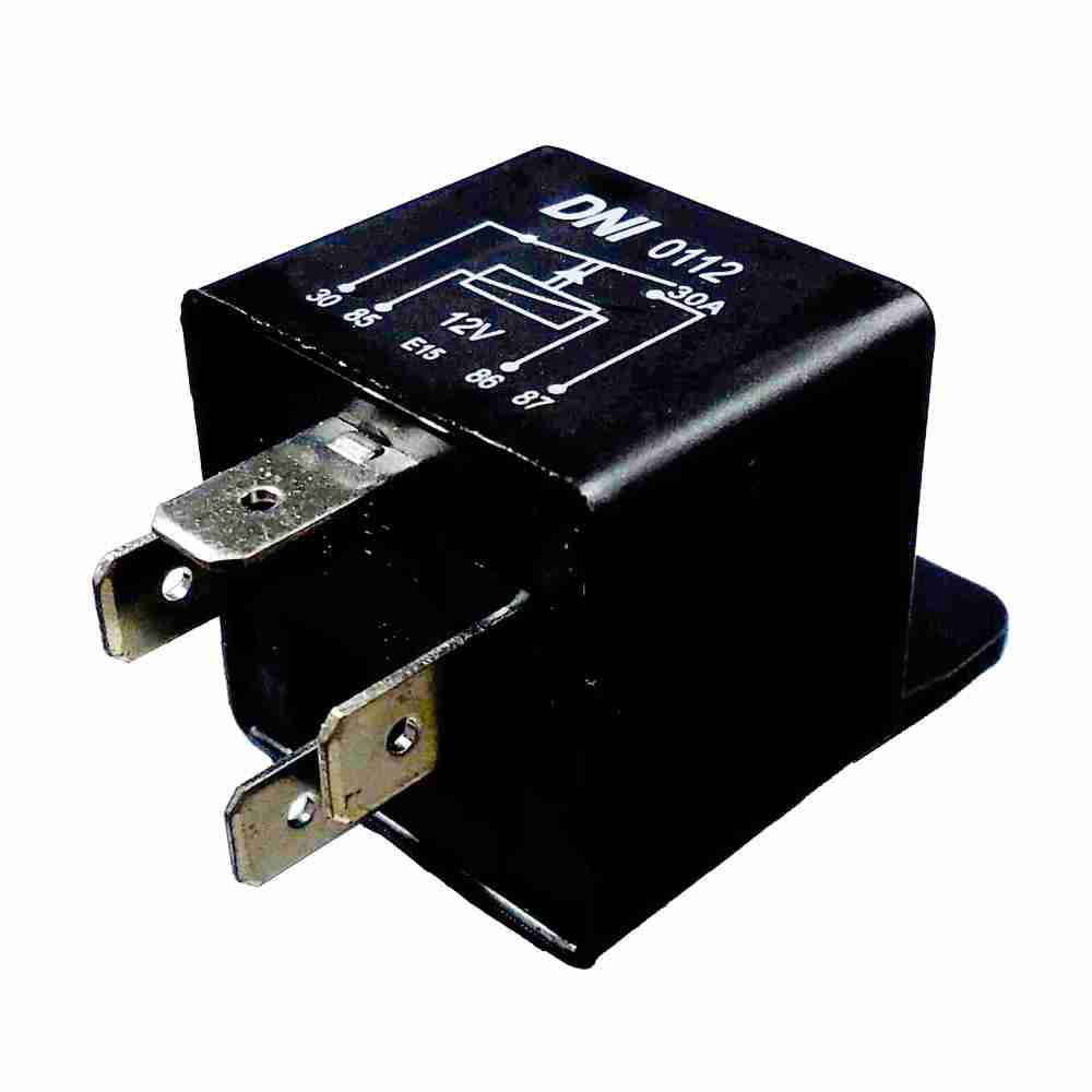 Relé Auxiliar 12V 04 Terminais 30 Amperes (DNI0112) - DNI -