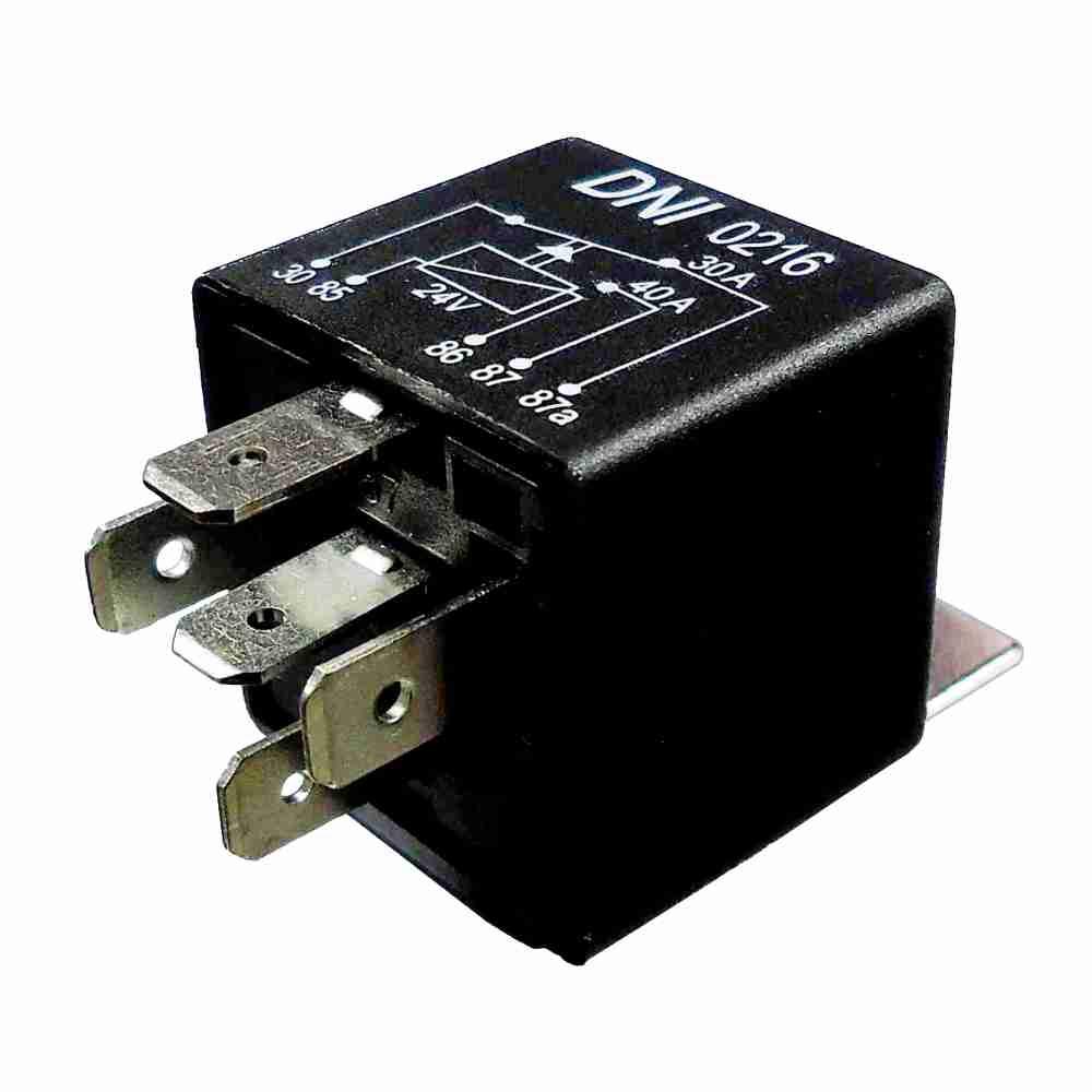 Relé Auxiliar 24V 05 Terminais 40 Amperes (DNI0216) - DNI -