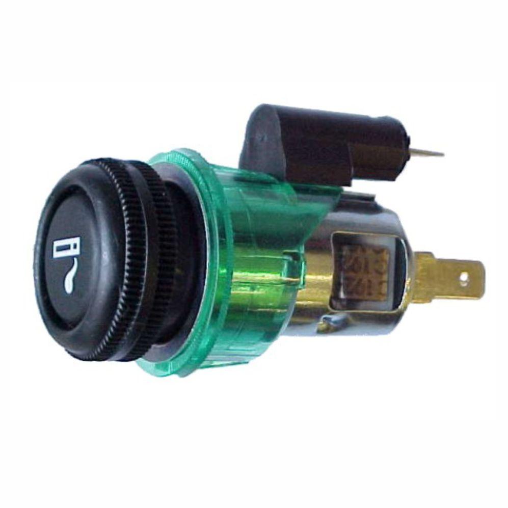 Acendedor Cigarros 24V - Universal -  Luz Verde (DNI0564)