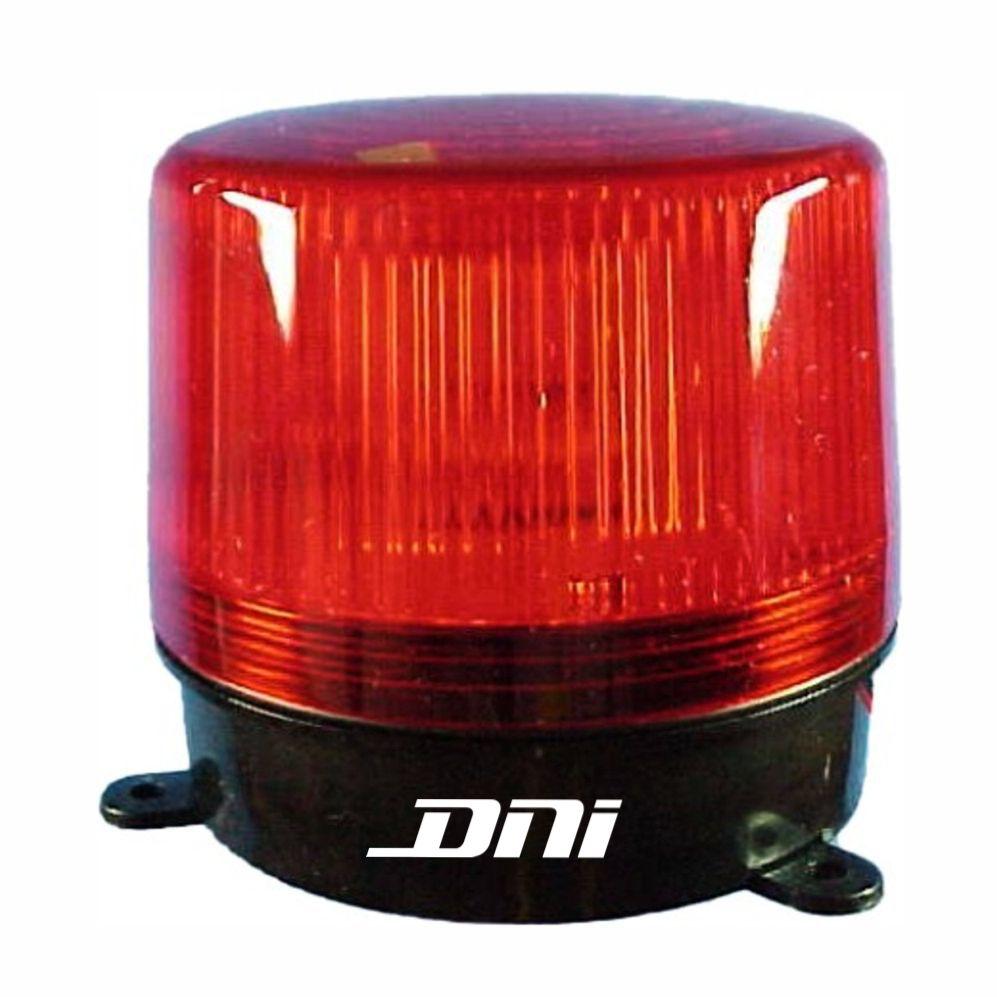 Flash Advertência Vermelho - 12V (DNI4006) - DNI - PEÇA  - C
