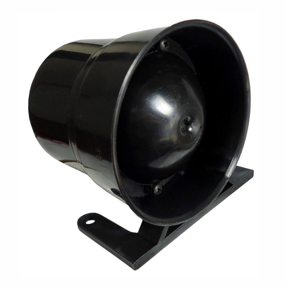 Sirene 02 Tons - 12V - 120 Decibéis (DNI4030)