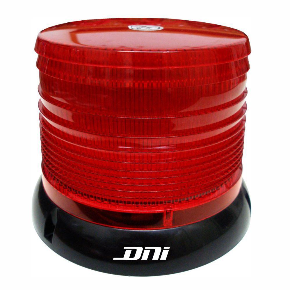 Flash Advertência + Giroflex - LED 24V - Vermelho (DNI4086)