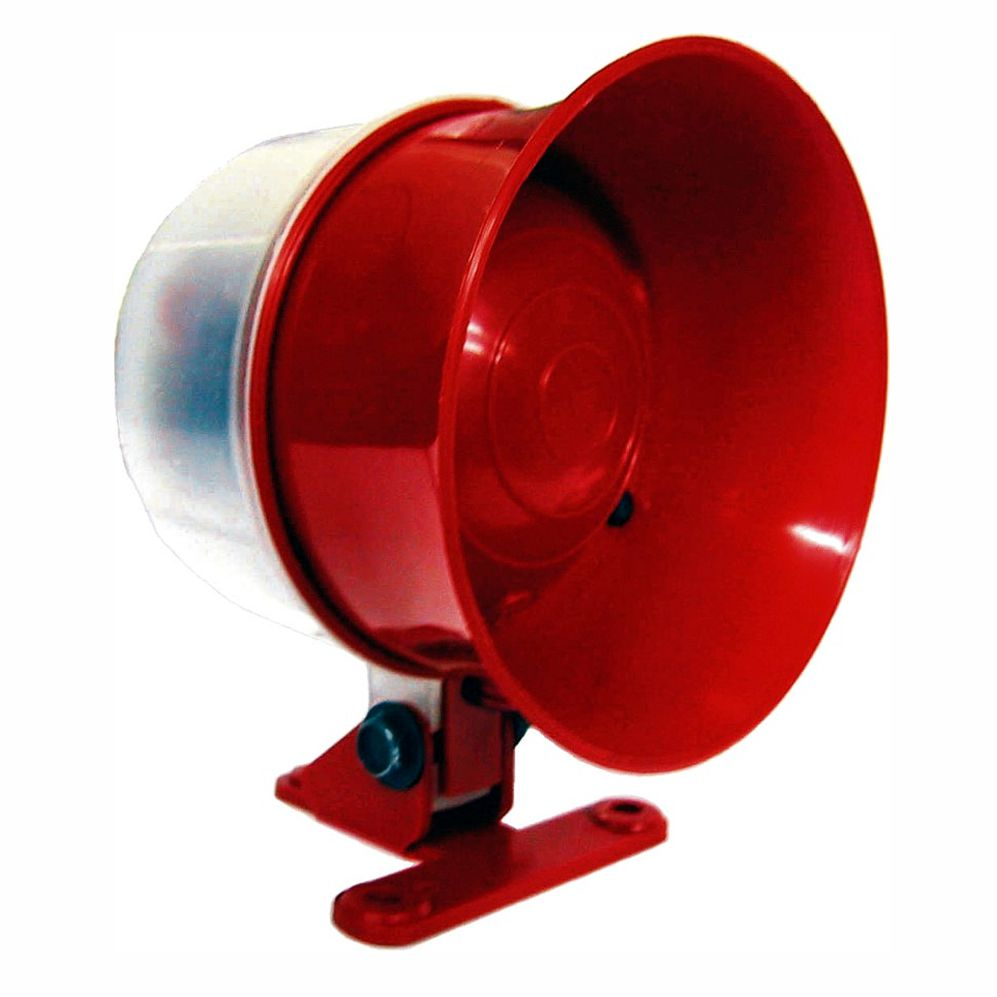 Sirene 01 Tom - Bivolt - 115 Decibéis - Luz Vermelha Piscant
