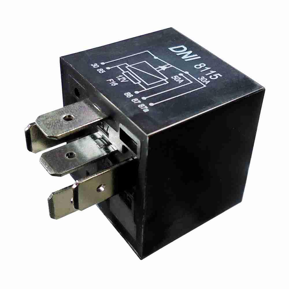 Relé Auxiliar 12V 05 Terminais 50 Amperes Selado (DNI8115) -