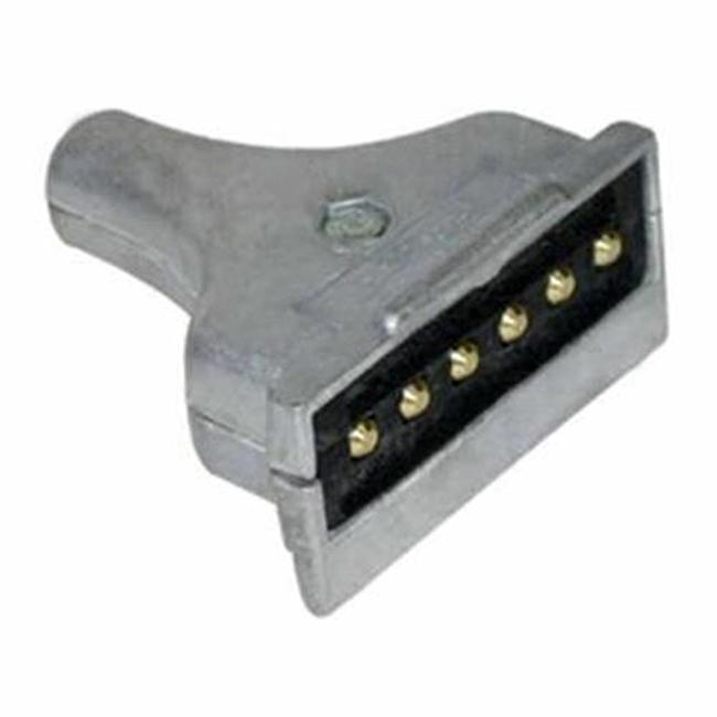 Tomada para Carreta Macho - Retangular - 6 Polos  (E2201)