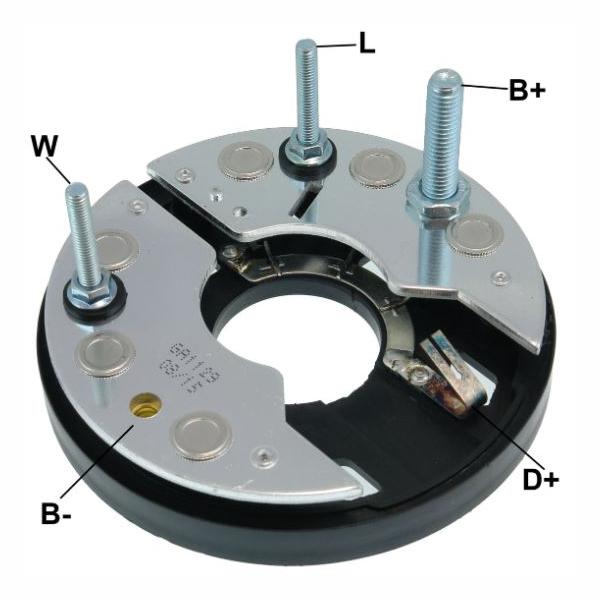 Placa Diodo GOL 1.0MI 1996 até 1998 - 065 Amperes (GA1129) -