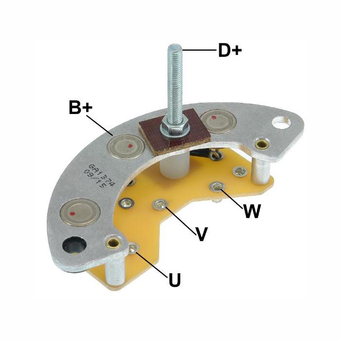 Placa Diodo VALMET MWM -  055 Amperes (GA1374) - GAUSS - PEÇ