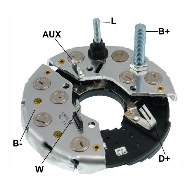 Placa Diodo IVECO CASE -  115 Amperes (GA1692) - GAUSS - PEÇ