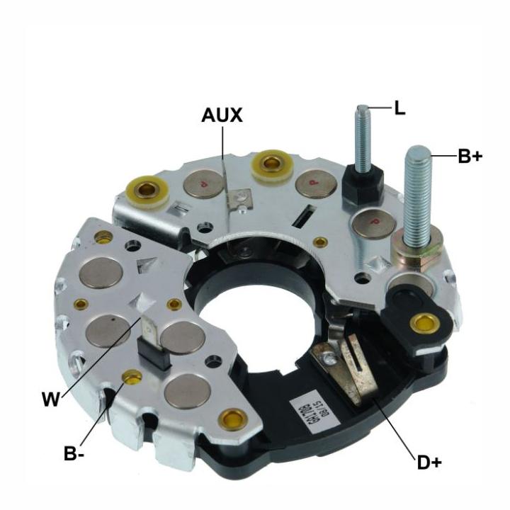 Placa Diodo MBB SCANIA VOLVO VWC -  115 Amperes (GA1708)