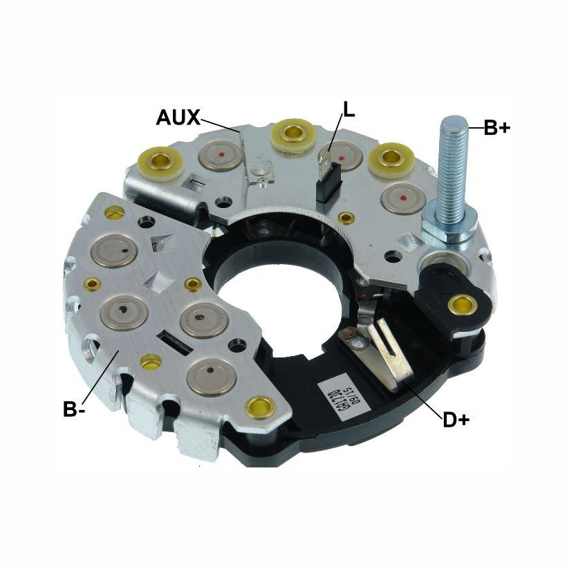 Placa Diodo AUDI TEMPRA TIPO -  115 Amperes (GA1730) - GAUSS