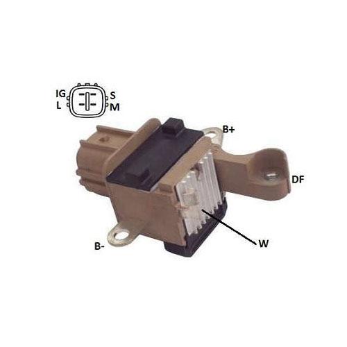 Regulador Alternador COROLLA RAV4 CAMRY HILUX (IK5124) - IKR