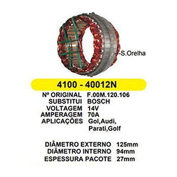 Estator do Alternador GOL - Motor MI -  (JR40012)