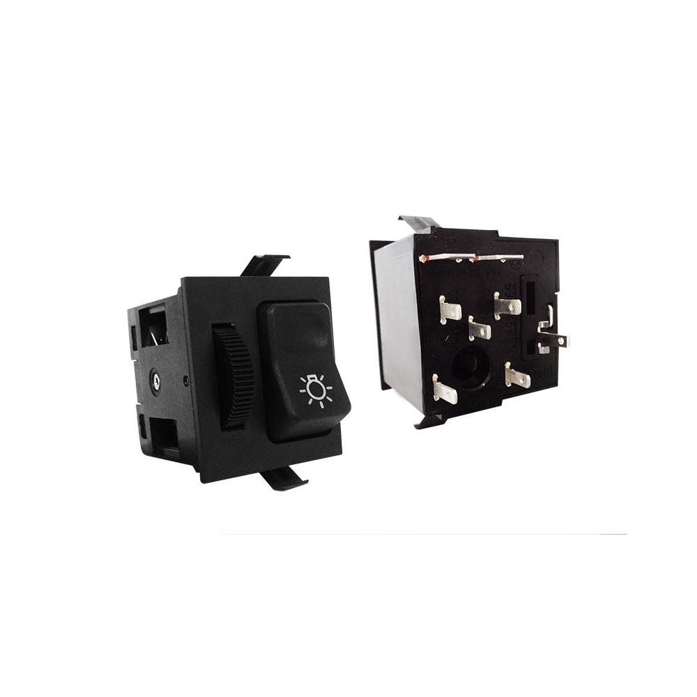 Chave Luz MBB BICUDO - 12V - Com Reostato (K3040100)