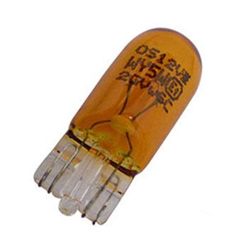 Lâmpada Base Vidro Grande 12V 5W - Amarelo (OS2827AM)
