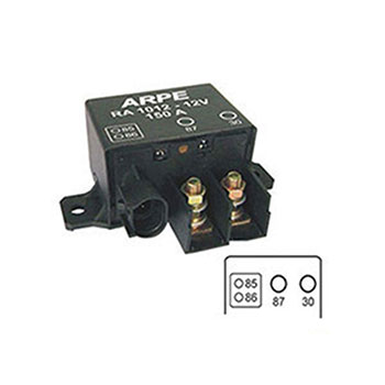 Relé Auxiliar 12V 04 Terminais 400 Amperes Pico 150 Amperes