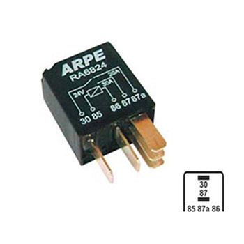 af8b6381a32 Relé Auxíliar Mini 24V 05 Terminais 30 Amperes - Sem Soquete (RA6824) -  ARPE - PEÇA - SKU  21919