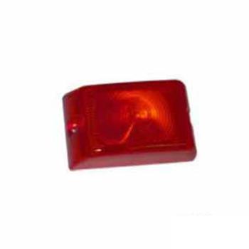 Lente Arredondo para Lanterna S1118R/S1119R - Vermelho (S118