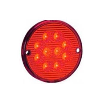Lanterna Traseira - 10 LEDs 24V - Vermelho (S207124VM)