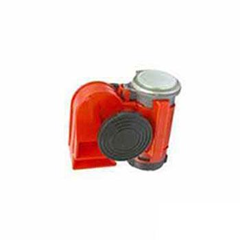 Buzina 2 Corneta - Ar Compacto - 12V - Vermelha (THZ045)