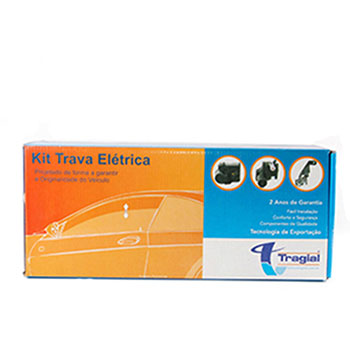 Kit Trava Elétrica CLIO - 2 Portas (TRC2) - TRAGIAL - KIT  -