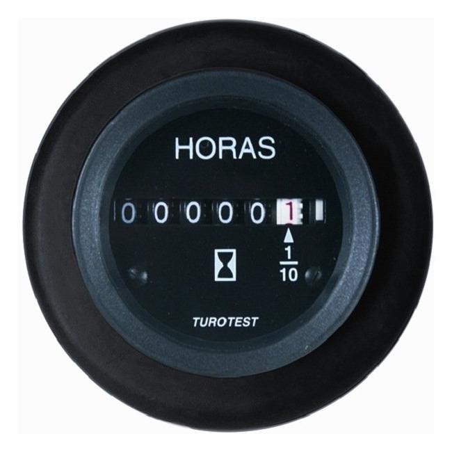 Horimetro 52mm - 12/24V - Com Aro Amortecedor (TUR300282) -