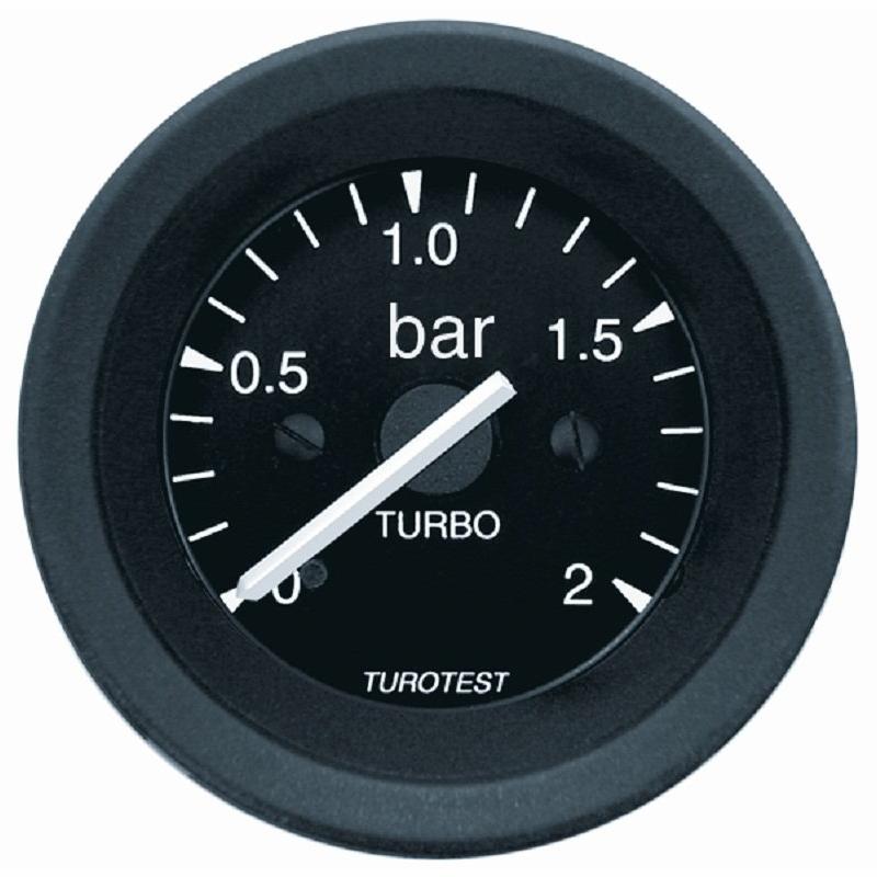 Manometro Para Motor Turbo 0 A 2 Kg D52 (TUR300340) - TUROTE