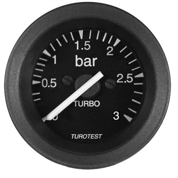 Manometro Relógio Pressão Turbo 52mm (TUR300531) - TUROTEST