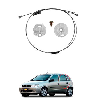 Kit Reparo Máquina Vidro Elétrico CORSA 1997 até 2006 - Port
