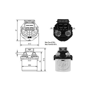 Automático Motor de Partida 12v ZM103