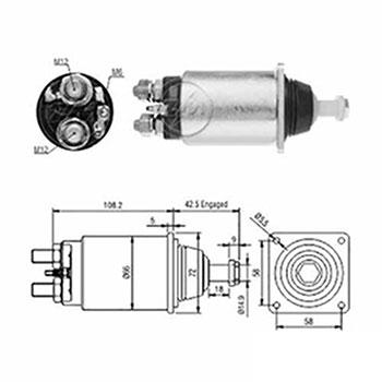 Automático Motor de Partida 12v () - ZM - PEÇA  - Cod. SKU: