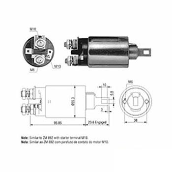 Automático Motor de Partida 12v ZM1892
